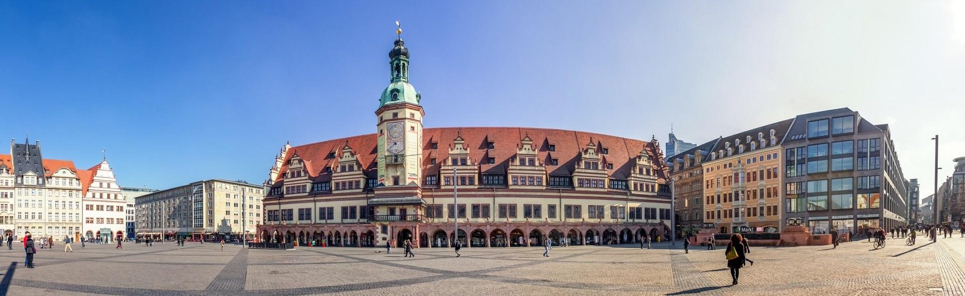 Leipzig, Markt, Panorama