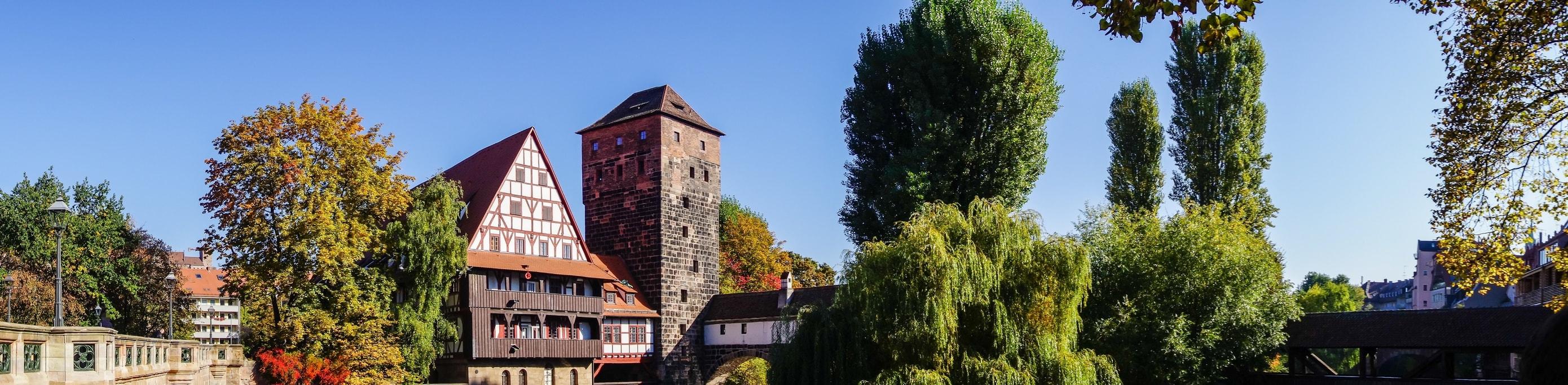 Panorama Maxbrücke und Weinstadel, Nürnberg